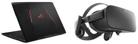 Oculus rift headset and laptop